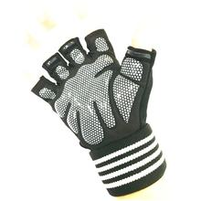 Custom Wholesale Leather Neoprene Half Finger Fitness Training Sports Gym Hand Gloves With Wrist Support