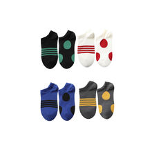 MEIKAN Brand Factory Direct Sales Colourful Fashion Knitted Crew Stripes Dot Custom Cotton Ankle Socks Women