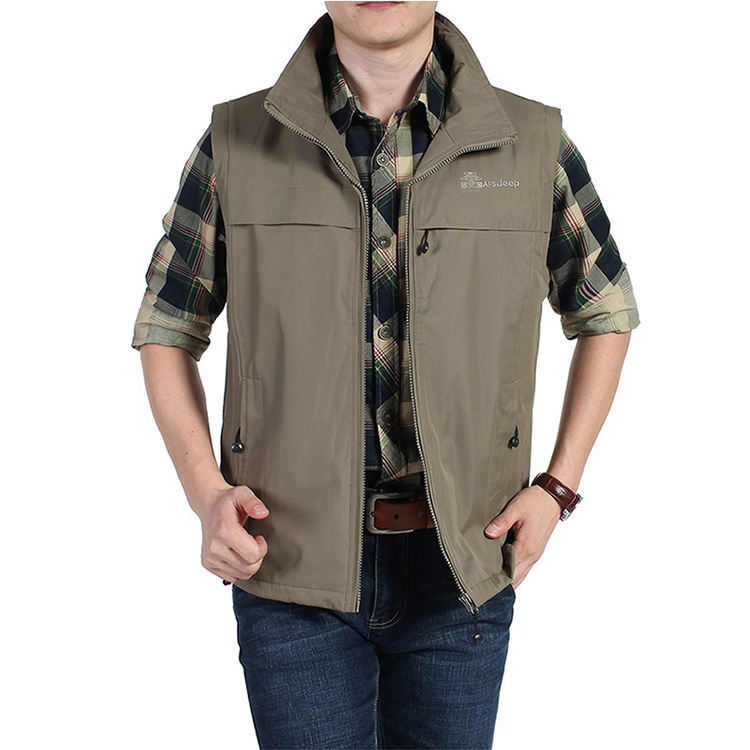 Export Orders For Garments Price Of Manufacturing polyester Winter zipper Outdoor Wear Jackets Vest