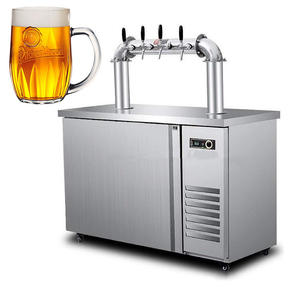Stainless Steel Double Dischargers Beer Dispenser Tower Beer Kegerator Single tap keg beer with low temperature