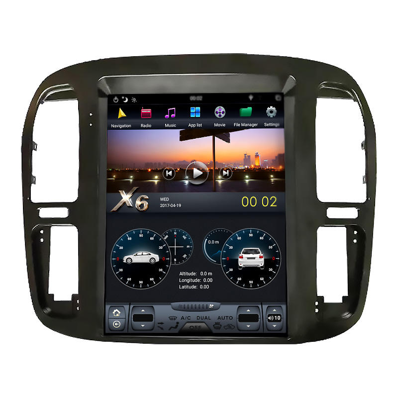 Navihua Android Verticale Screen Auto Video Dvd-speler Stereo Radio Gps Navigatiesysteem Voor Toyota Land Cruiser 1992-2002