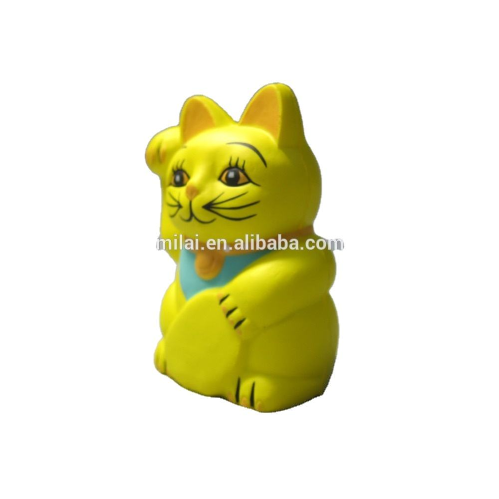 stress Japan maneki nekopu /pu foam cat toy / Lucky Cat Gift /