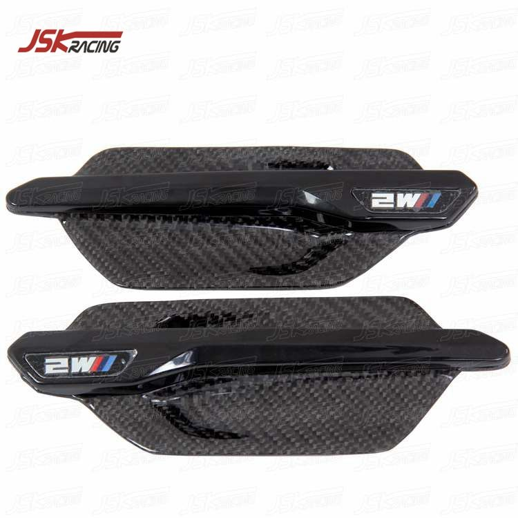 2014-2018 CARBON FIBER LOGO EMBLEM CAPS FOR BMW 2 SERIES F87 M2