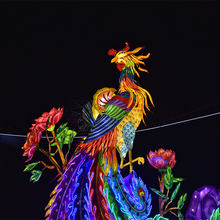 Chinese Legendary Phoenix Bird Silk Lantern Festival For Sale