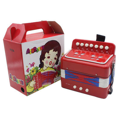 Hot sale colorful 2 bass 7 keys mini children toy piano accordion for beginners