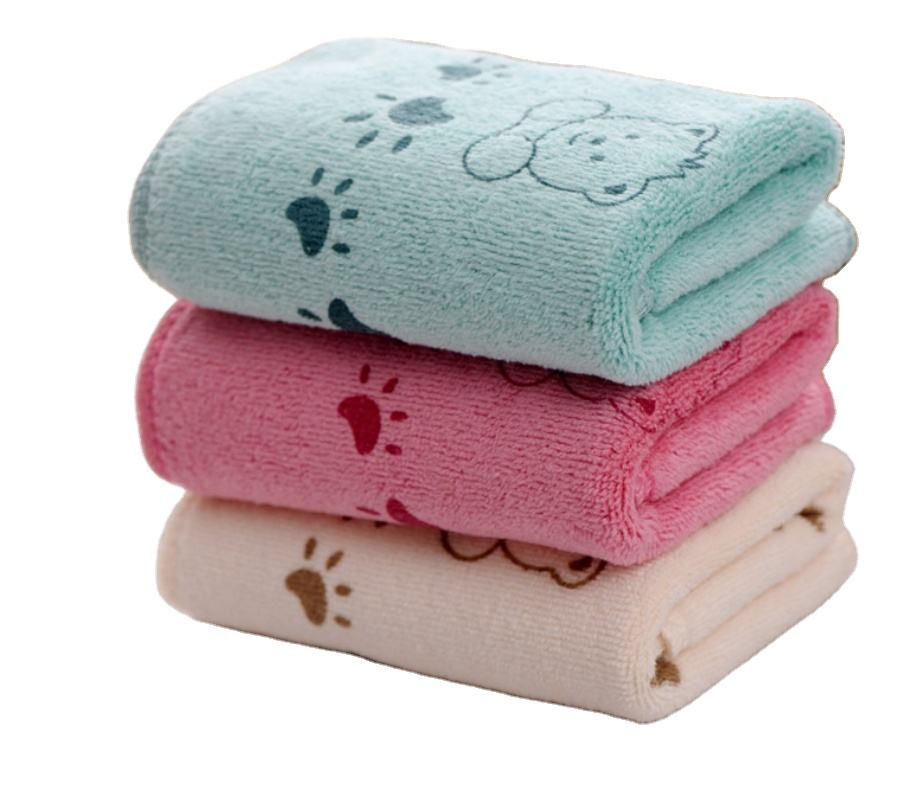 Cartoon towel microfiber absorbent children's towel polyester nylon thickened small children's towel
