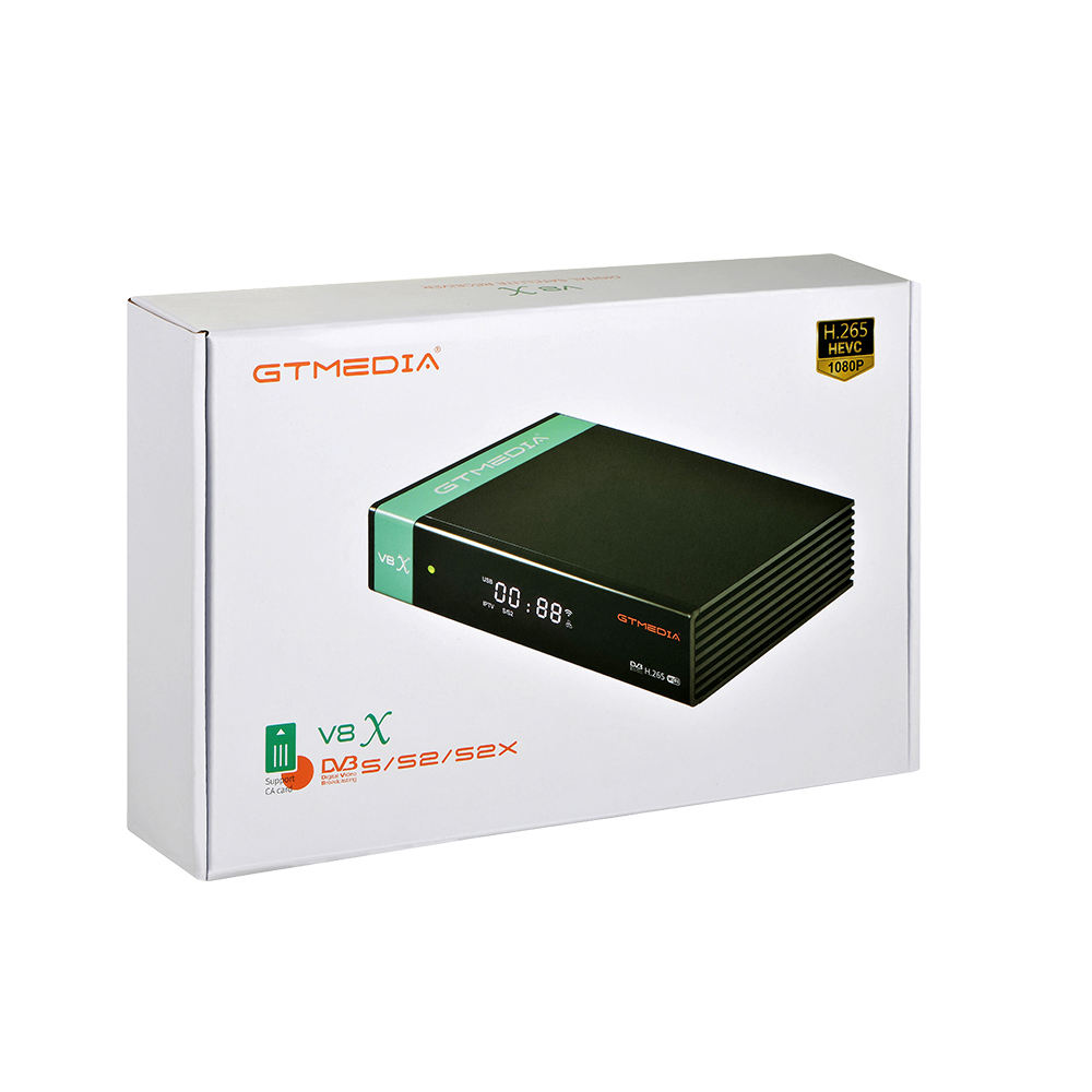 Nuovo Disegno GTmedia V8X <span class=keywords><strong>DVB</strong></span> S2/S2X H.265 IPTV Smart Card Forte TV Satellitare Decoder