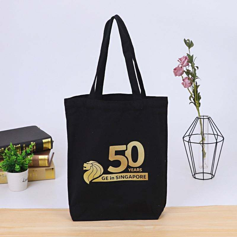 Best design 2019 Wholesale custom size bleaching white fabric cotton canvas tote bag