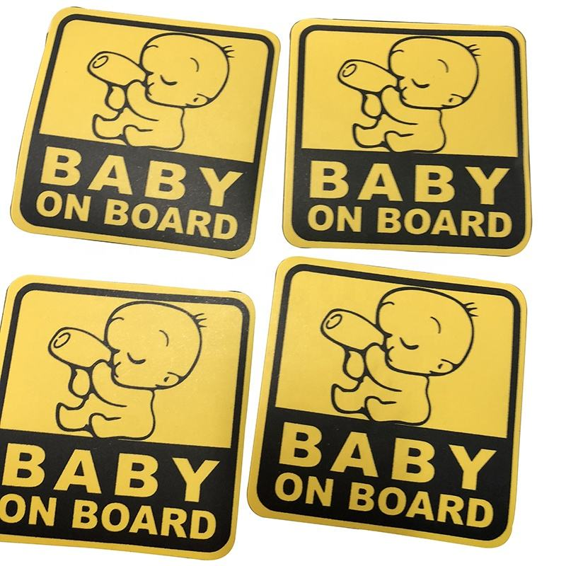 Custom Baby Sign Magnet Magnetic Car Sticker On Board Waterproof 3M Reflective Die Cut Car Window Decal Bumper Sticker