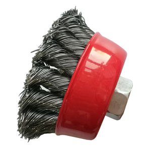 Copper Steel Industrial Polish Cup Twisted Knot Wire Brushes Manufacturer