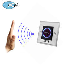 Square Stainless Steel Touchless Door Release Button IR Contactless Infrared Metal No Touch Exit Button