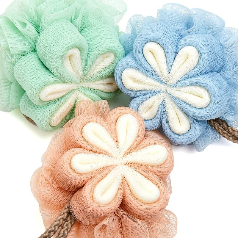 50gram PE bath ball sponge 50g african body PE sponge Flower Bath Mitt