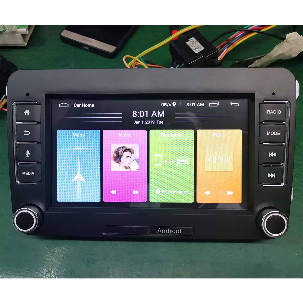 "Android 7 ""Auto-Multimedia-player GPS Navigation radio mp5 Player 2 din Für <span class=keywords><strong>VW</strong></span> Polo/passat b6 SITZ leon 2 Altea Toledo Skoda"
