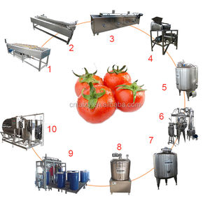 high efficient tomatoes sauce ketchup production processing line