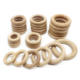 China Factory Hot Selling Beech Wood Baby Wooden Teether Toy 60mm 70mm 80mm Baby Teething Ring