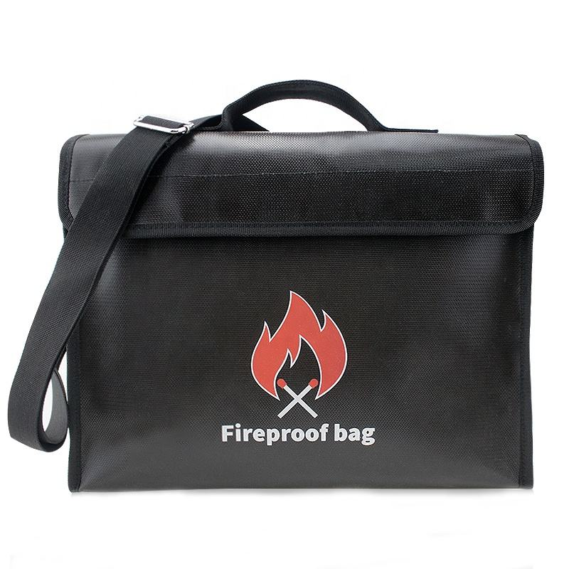 Wholesale Safe Waterproof Fire Resistant File documents Money bags Fireproof Document Bag