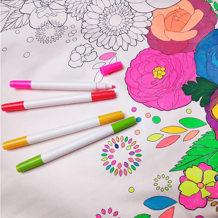 Non Toxic Promotional Smart Dalo Textile Marker Permanent Colour Fabric Markers