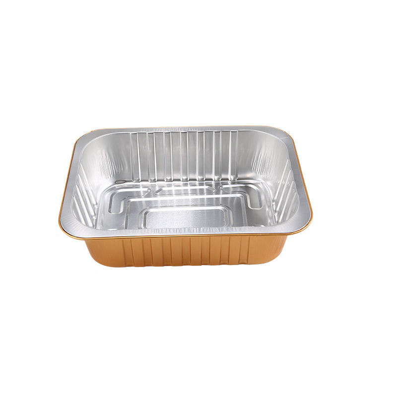 China manufacturer different sizes smooth wall aluminum foil container airline food aluminum tray