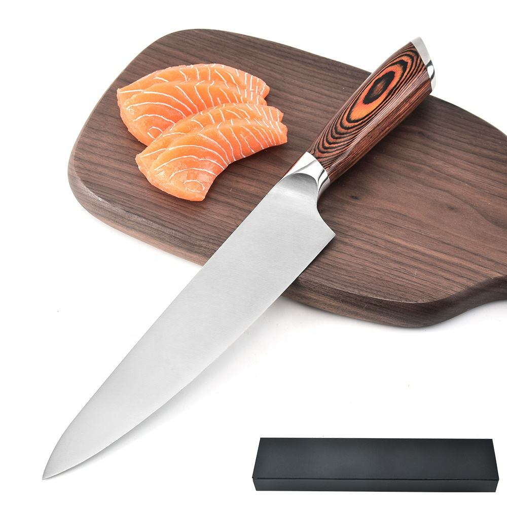 High quality kitchen knife 5cr15 stainless steel chef knife with gift box