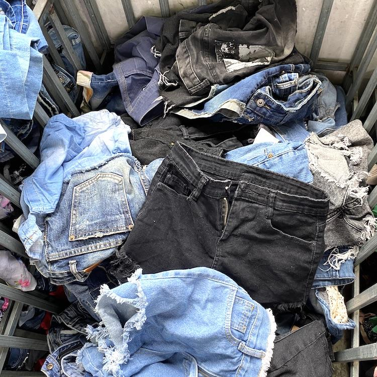 Fashion design used jean shorts for sale in china