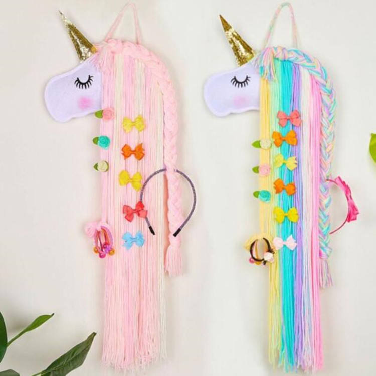 Creative Felt Unicorn Children's Headband Dream Catcher Wall Decor For Kids Bedroom Craft Hanging Decoration