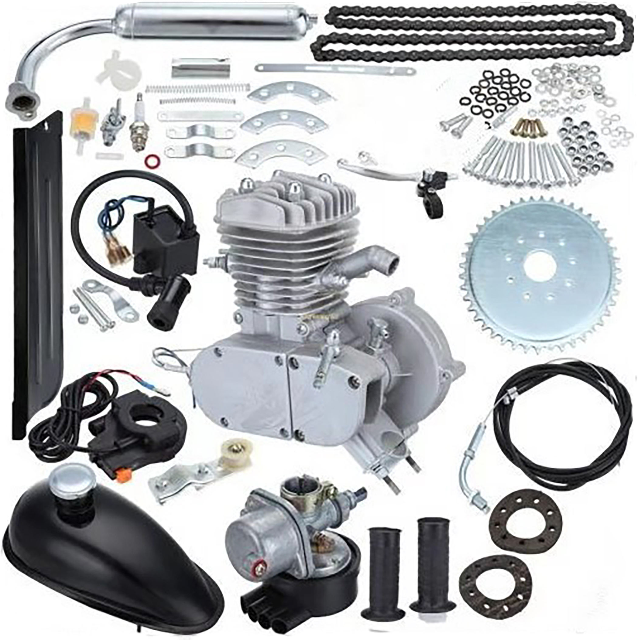 48cc 49cc 50cc 60cc 66cc 80cc Gas 2stroke gasoline engine kit 80 cc