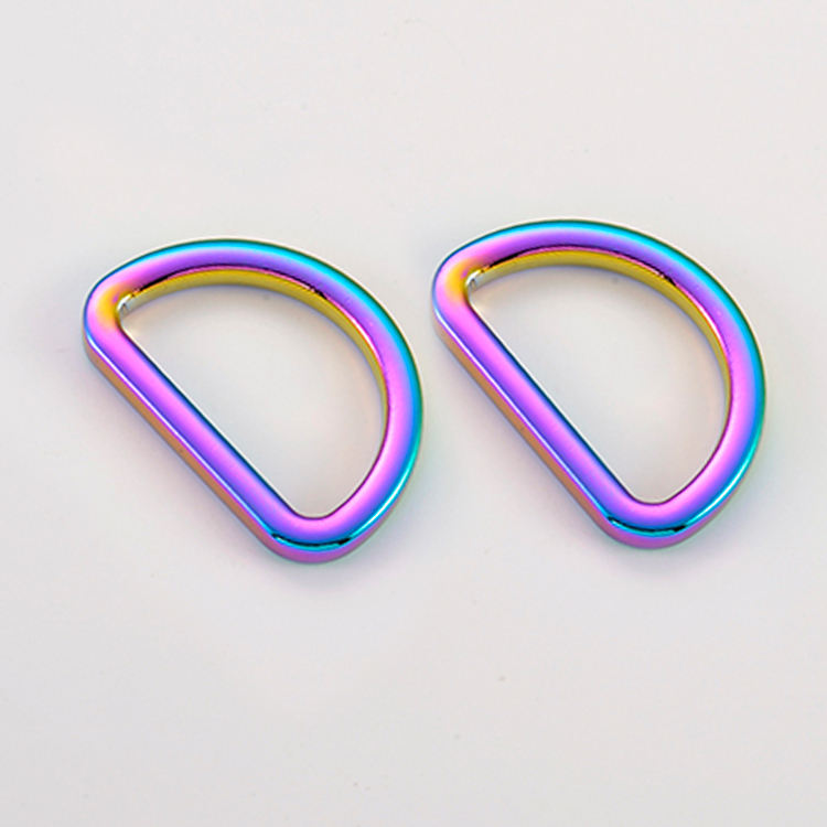 Iridescent D-ring for handbags stunning metal fittings for bag hardware accessories