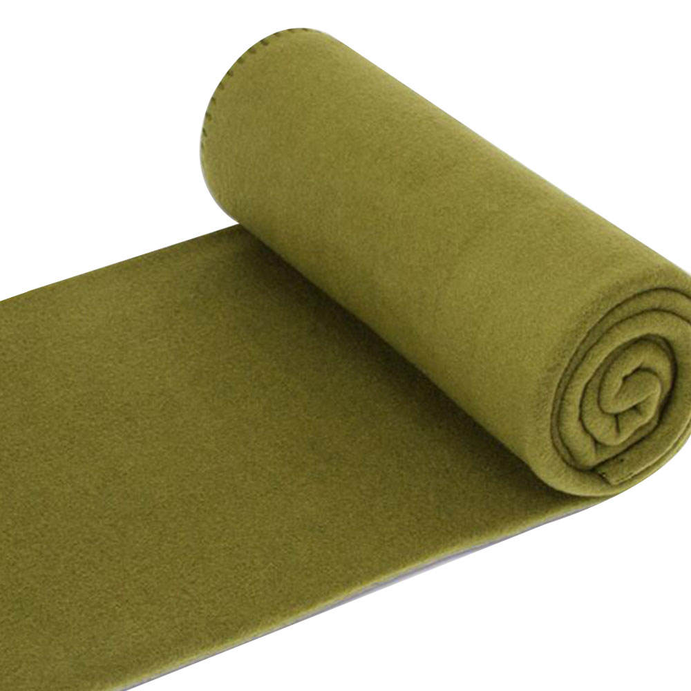 Polyester green fleece military army blanket for sale