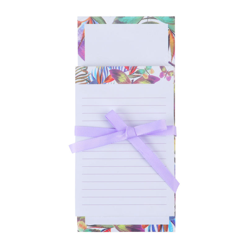 Customized memo pad 2PK magnetic sticky note shopping list pad