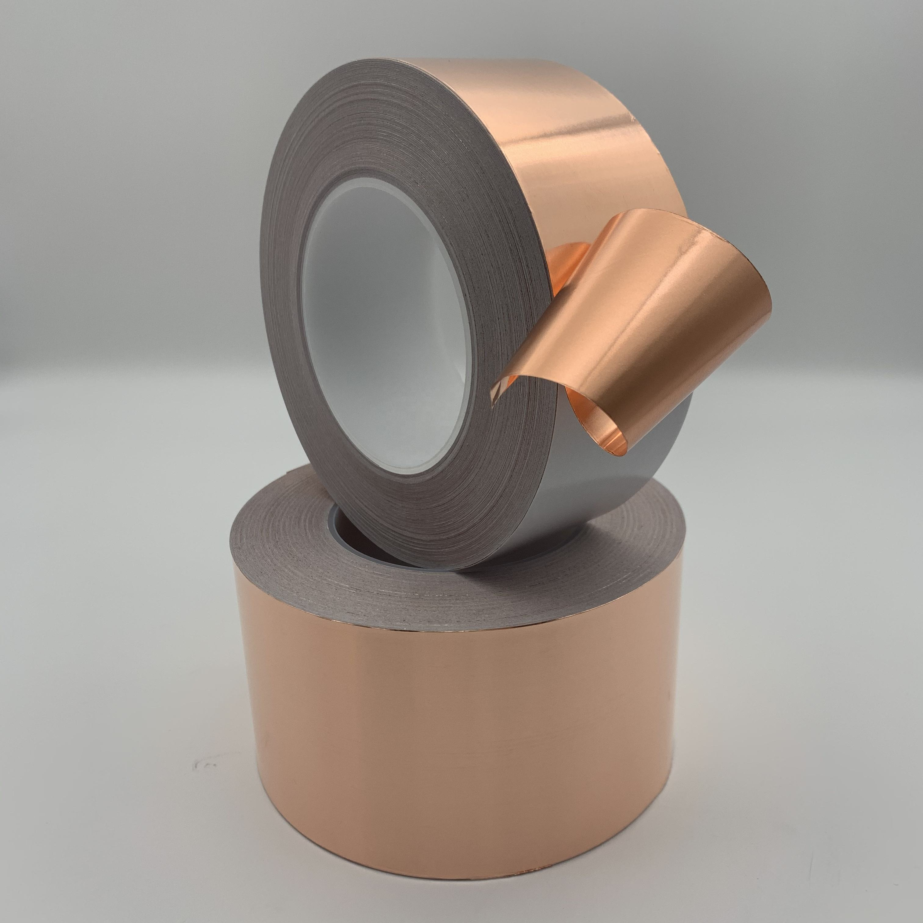 Adhesive copper foil tape for EMI shielding with customized thickness and width