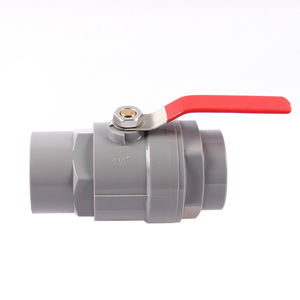 Vietnam Type PVC 2 Pieces Two pieces Ball Valve With Stainless Steel handle