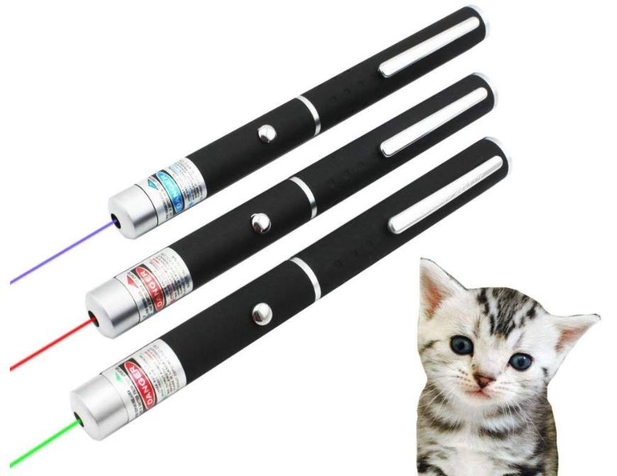 10MW Red Green Purple Laser Pen SingleドットライトVisible Light Beam Laserpoint 3色Powerful Military
