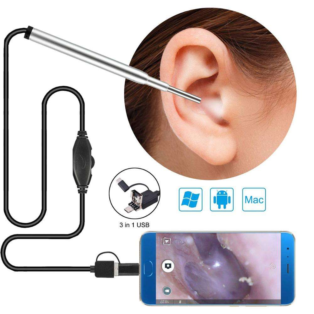 3 in 1ear endoscope camera 3.9mm Medical Endoscope Camera Ear Nasal Endoscope