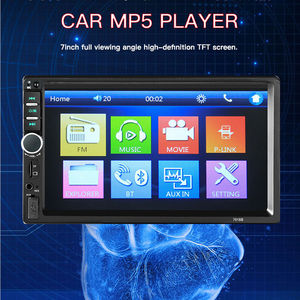 7018b model 2 din 7 inch touch screen car mp5 radio player with good price