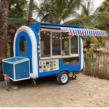 Snack Machine Fry Ice Cream Roll Food Vans/China Bicycle Factory/Mobile Fryer Food Cart