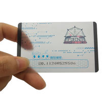 High quality customized printing plastic transparent PVC business cards