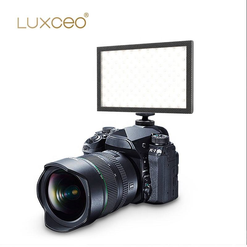 LUXCEO P02 Video Film Attrezzature 1000LM CRI95 Hot Shoe Mount Banca di Potere Della Macchina Fotografica LED Video Photography Luce