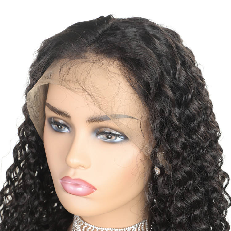 Wholesale Natural Color Cuticle Aligned Unprocessed Brazilian Virgin Remy Human Hair Lace Front Wigs
