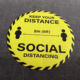 Keep 6 Ft Floor Distance Stickers Pvc Vinyl