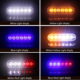 12v Emergency Vehicles car Pickup 4 LED Flash Light Amber Red Blue Truck Strobe LED Flashing Warning Light Lamp 12-24v