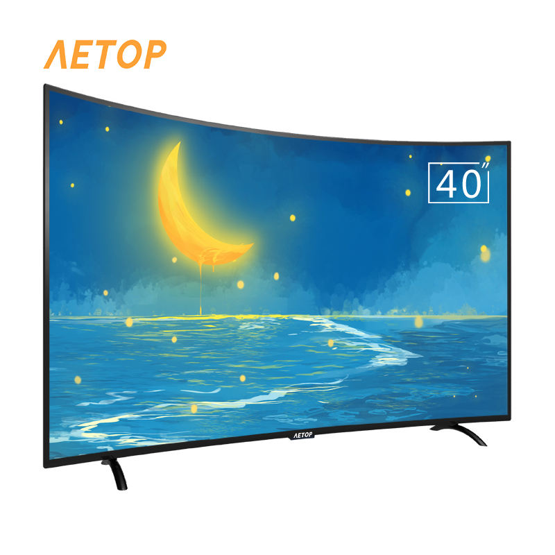 Venta al por mayor caliente de televisión android tv inteligente lcd LED de 40 pulgadas 2k hd oled curvada tv con DVB-T2/S2
