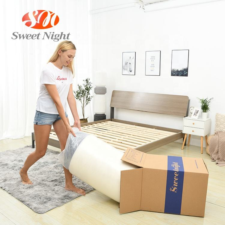 high quality customized thick mattress foldable home used pocket spring bed thick mattress