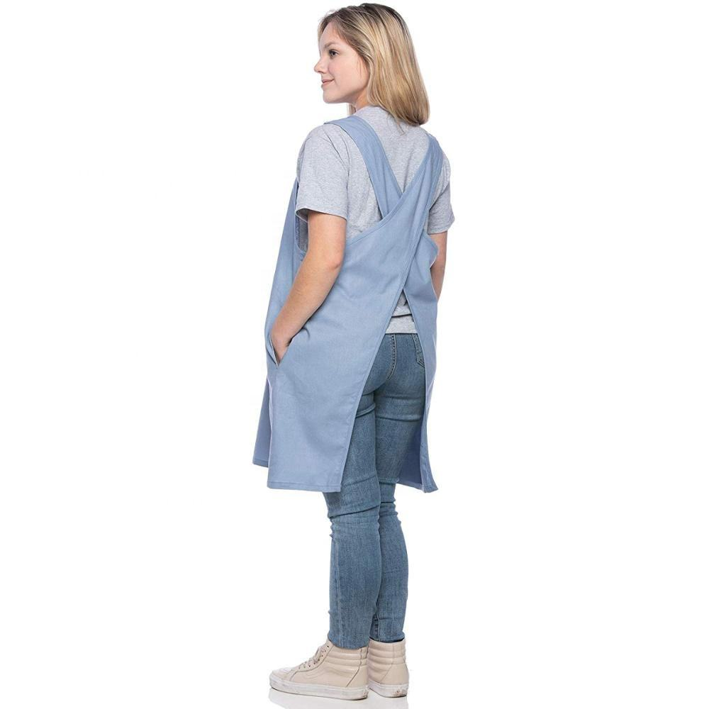 Soft Cotton/Linen Blend Apron Cross Back Apron X-Shaped Apron, Japanese Style Apron, Perfect for Kitchen and Gardening