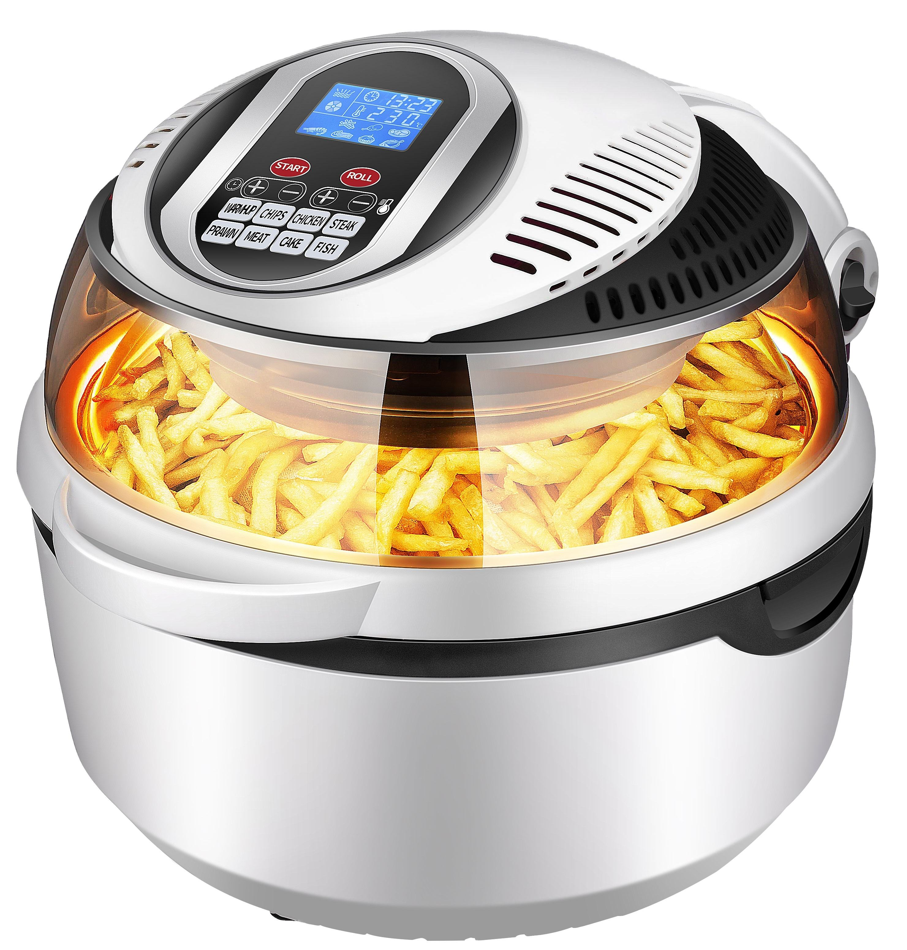 TURBOFRY OVEN 12L WITH AIRFRYS BAKES ROASTS GRILLS OIL FREE ELECTRIC AIR FRYER