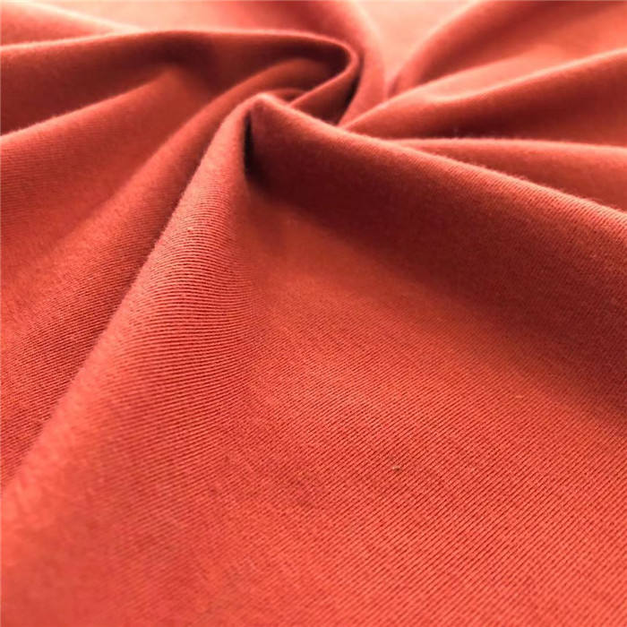 100% pima cotton interlock fabric 80S/2 pima cotton thick fabric