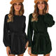 LE-19102105 2020 Autumn New Listing Women Sexy Bodycon Dress 3 Color Sexy Casual Long Sleeve Fashion Ladies Dress