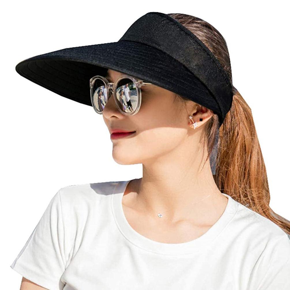 Plastic Solar-Face-UV-Shield Hat Anti-UV Sun-Visor for Outdoor