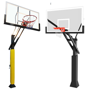 Basketball Equipment Height Adjustable Inground Basketball Hoop Stand,Basketball Stand hoop