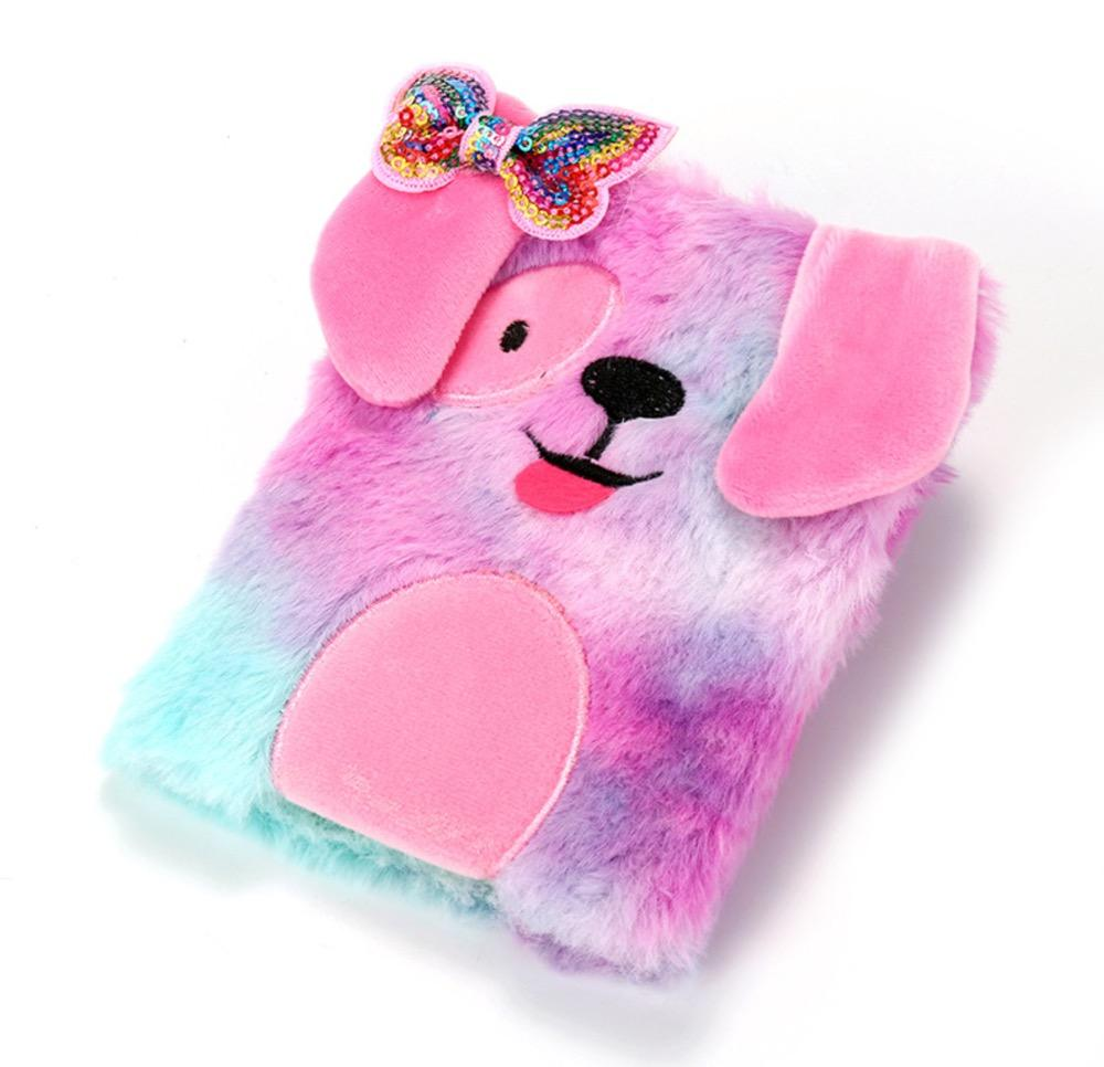 Hot-vendita DOGGY Fantasy Peluche Note Libri Per Le Ragazze, Rosa Morbido Diario Note Book Cane Peluche <span class=keywords><strong>Notebook</strong></span>