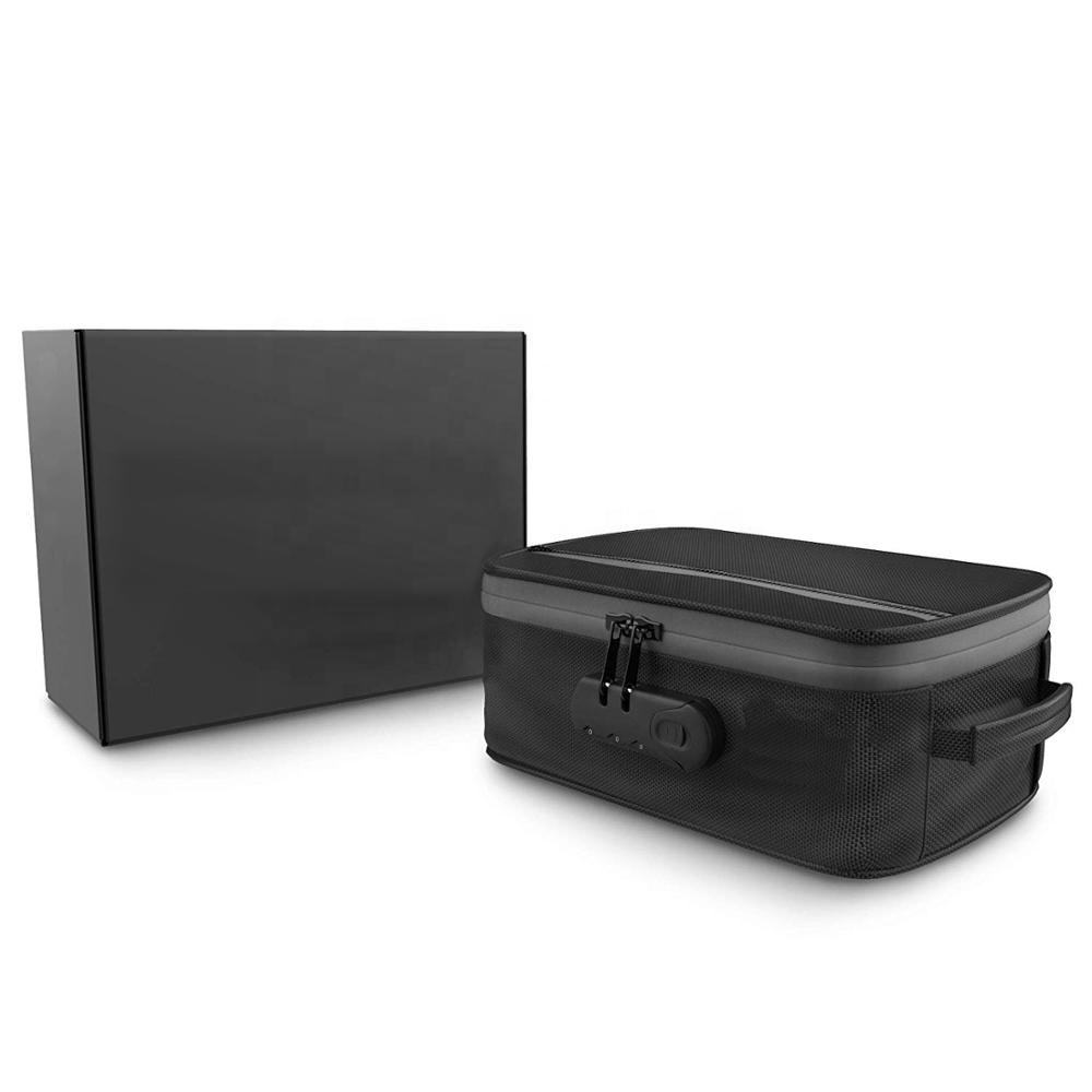 Amazon hot sale carbon lined lockable big large smell proof stash case